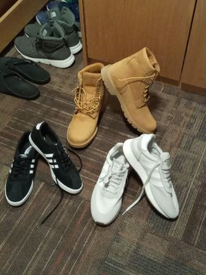 Timberlands 11.5 Black Adidas 10.5. White Adidas 11 for Sale in Boston, MA