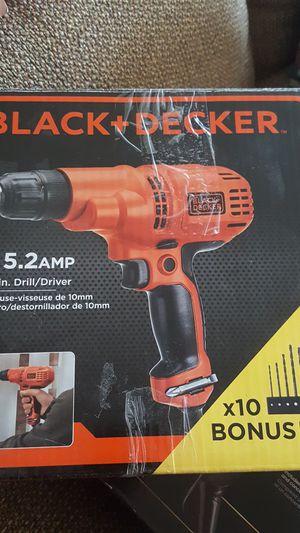 Black & Decker 5.2 amps 3/8 in drill driver for Sale in Detroit, MI