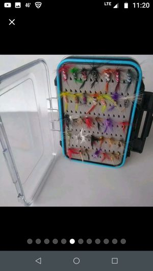 64pcs Fly Fishing Tackle Box 64pcs Assortment for Sale in Gurnee, IL