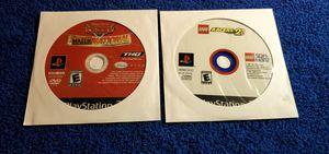 CARS MATER INTERNATIONAL & LEGO RACERS 2 PS2 GAME DISC ONLY COMBO for Sale in Missouri City, TX