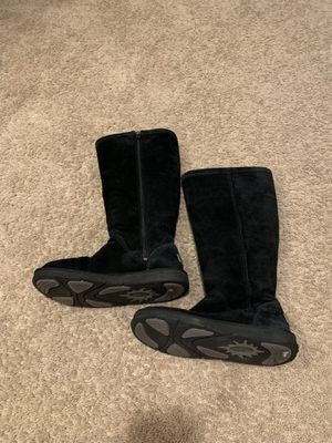 Uggs - Tall black with zipper Size 7 Women's for Sale in Westlake, MD