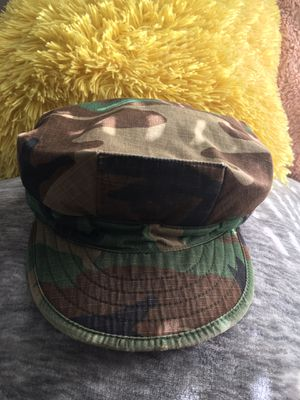 "Authentic "" Military Cadet Cap""Style Classic Camouflage -Great Condition for Sale in Los Angeles, CA"