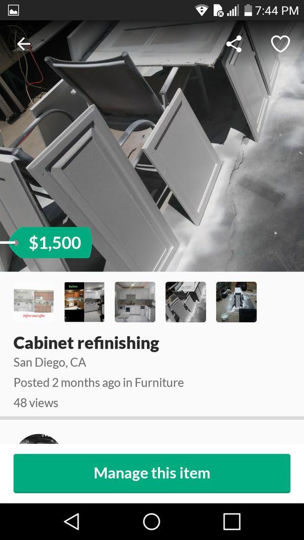 Painter cabinets etc
