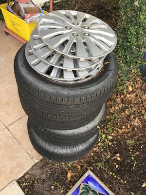 205/60 R16. Jetta steel rims and caps for Sale in West Palm Beach, FL