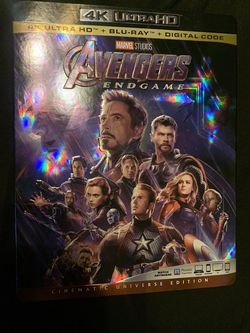 Avengers Endgame: 4K Ultra HD + Blu-Ray for Sale in Humble,  TX