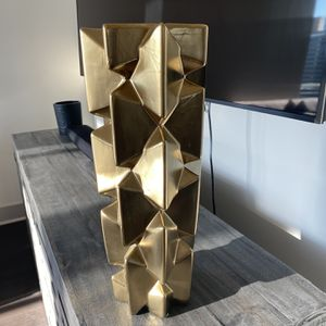 Z Gallerie Geometric Gold Vase for Sale in McLean, VA