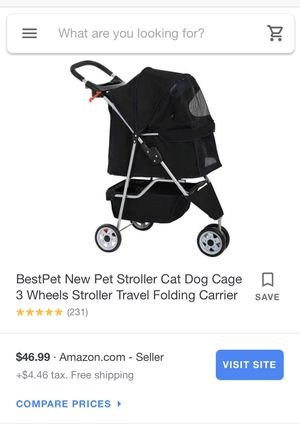 BestPet 3 Wheels Folding Stroller for Sale in Los Angeles, CA