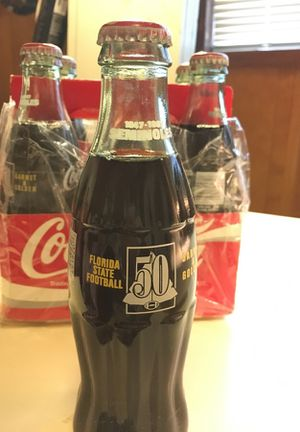 Hey Seminole Fans ! Six(6) unopened bottles of Florida State Football Coca-Colas 1947-1997 for Sale in Tallahassee, FL