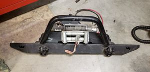 Jeep Wrangler Warn Bumper Winch for Sale in Citrus Heights, CA