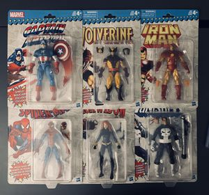 Marvel Retro Legends Series 1 - Super Clean! Spider-Man Wolverine Iron Man for Sale in Land O Lakes, FL