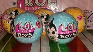 💎LOL Surprise LOT of 5💎3 Confetti Pop & 2 Boy Series for Sale in Edgewood, WA