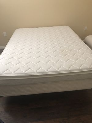 Queen Mattress, Box Spring and Metal Frame for Sale in Tampa, FL