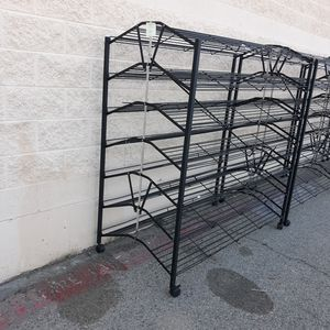 Commercial shelving double sided metal racks for Sale in Palmdale, CA