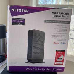 Net gear N600 WiFi Cable Modem Router -C3700 for Sale in Atlanta,  GA
