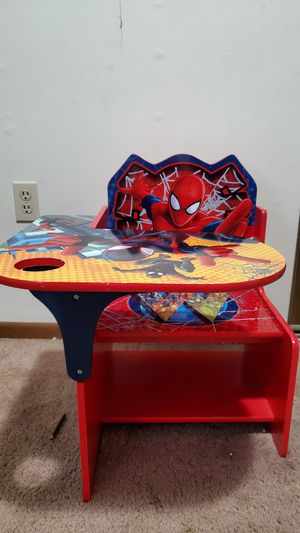 Kids table Marvel Spiderman chair desk ideal for Arts & Crafts, Snack Time, Homeschooling, Homework for Sale in Pittsburgh, PA