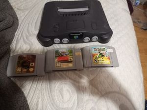 Nintendo 64 and 3 games for $80 for Sale in Houston, TX