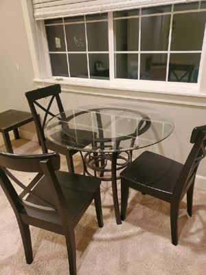 Glass Breakfast Table for Sale in Vancouver, WA