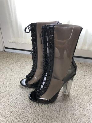 "Size 7 booties, brand new, 4"" tall acrylic heel for Sale in Haymarket, VA"