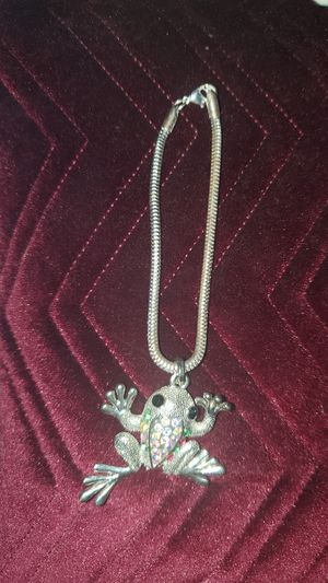 Silver Tone Bracelet with frog Charm for Sale in El Cajon, CA