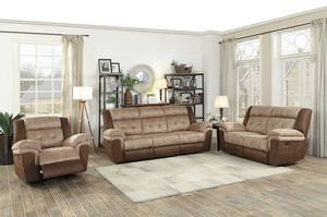🌲Homelegance Chai Brown Microfiber Double Reclining Living Room Set for Sale in Berwyn Heights, MD