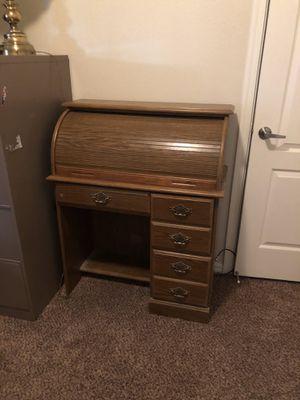 Roll top wooden desk for Sale in Mesa, AZ