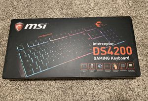 MSI Interceptor DS4200 Gaming Keyboard for Sale in Le Mars, IA