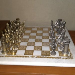 Greek Iron Chess Set for Sale in Trumbull, CT
