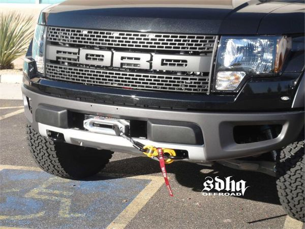 2010-2014 ford raptor stock bumper winch mount