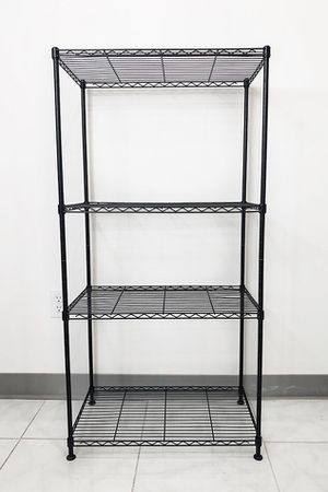"$35 NEW Small Metal 4-Shelf Shelving Storage Unit Wire Organizer Rack Adjustable Height 24x14x48"" for Sale in Montebello, CA"