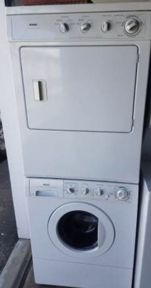 Kenmore stackable front load washer and gas dryer