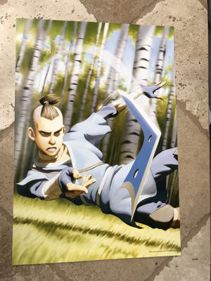 AVATAR AIRBENDER SOKKA POSTER 13X19 for Sale in San Diego, CA