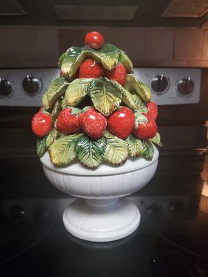 Vintage ceramic stawberry topiary dish for Sale in Murfreesboro, TN