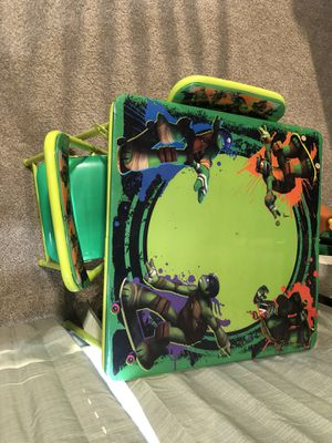 Table for kids (ninja turtles) for Sale in Plano, TX