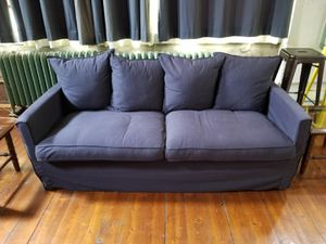 Navy blue couch for Sale in Detroit, MI