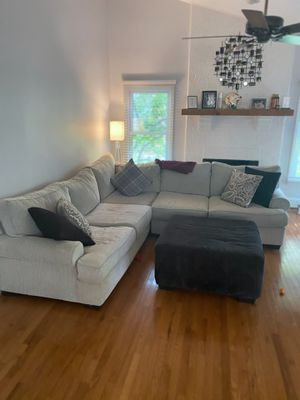 L Shaped Couch with Ottoman for Sale in Leesburg, VA