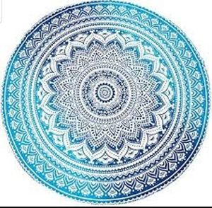 Round Mandala Cotton Tapestry 72 for Sale in Grafton, IL