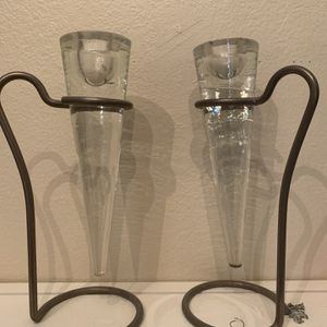 Glass And Metal Single Candle Holder for Sale in Hillsboro, OR
