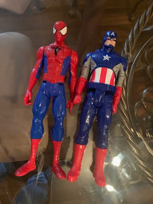 Spiderman and Captain America for Sale in Tampa, FL