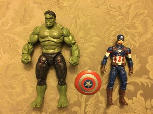 Marvel Legends age of ultron Captain America & Hulk Thanos baf wave for Sale in Wichita, KS