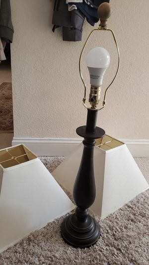 Lamp with 2 ivory shades for Sale in Lacey, WA