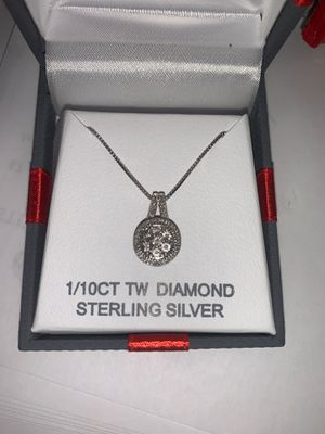 20 inch Diamond necklace and size 7 Diamond ring 1/10CT TW Diamond Sterling Silver for Sale in Hayward, CA