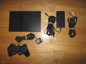 PS2 Slim with 1x controller PlayStation 2 dualshock bundle with cables for Sale in Anaheim, CA