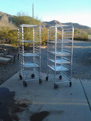 5 rolling sheet pan racks + 45 sheet pans for Sale in Laveen Village, AZ