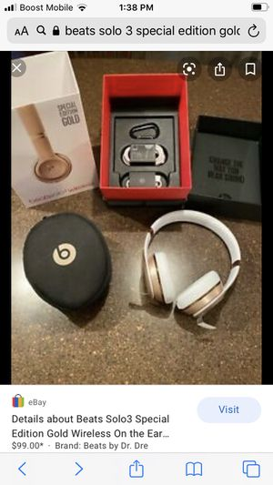 Special edition BEATS SOLO 3 Dr Dre headphones for Sale in Chicago, IL