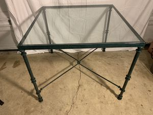 "Glass Top Metal 36""x 36"" Table with 2 chairs for Sale in Virginia Beach, VA"