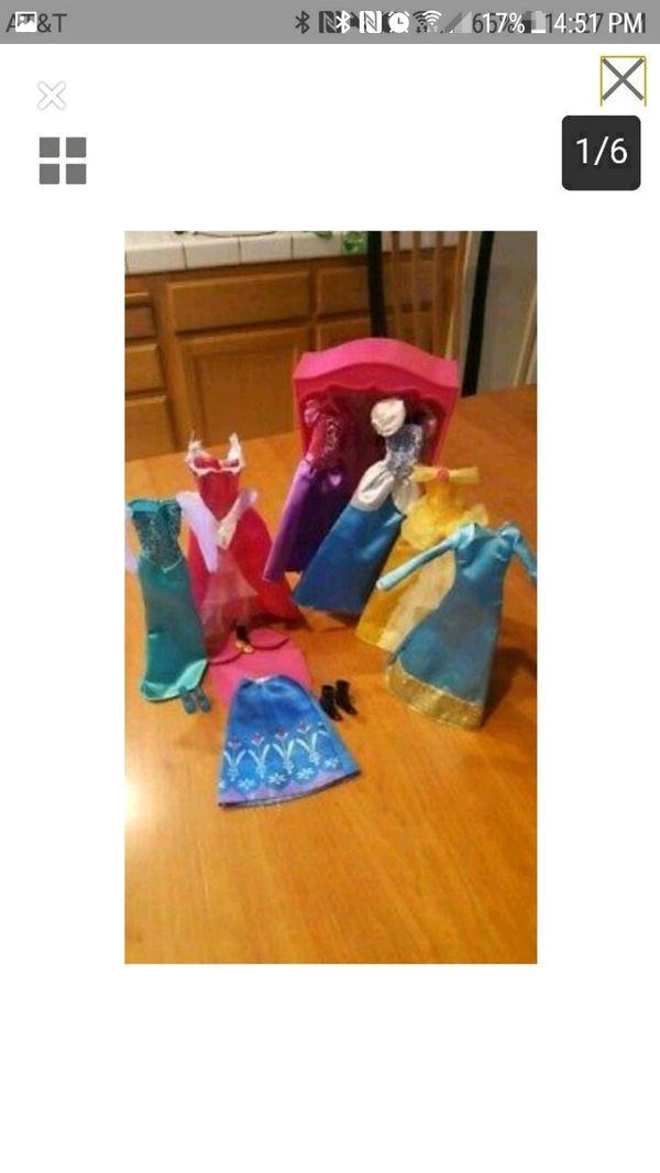 Barbie Princess outfits!!! Ana, Ela, Cinderella, Bell, Aurora