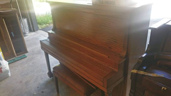 Becker Bros piano (working), with chair