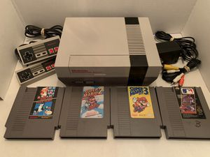 Refurbished Original Nintendo NES Console with 4 Games, 2 Controllers for Sale in Murfreesboro, TN