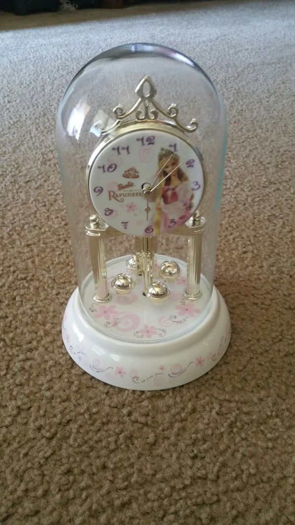Barbie as Rapunzel clock