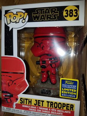 Funko pop sith jet trooper sdcc comic con star wars for Sale in Ontario, CA